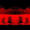 Double Deck Chairs Negative Red
