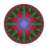 813. Green Red Motif With Atomic Symbol