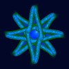 782. Frosted Felt Blue Green Star