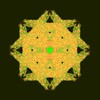 Yellow Chalk Star Green Background
