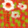 92. Impressionist White Red Flowers