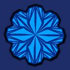 755. Blue Shades Flower