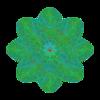 339. Green Atom Septuple Transparency