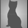 6. Silhouette Grey Cat Panel