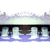 Double Deck Chairs Negative White