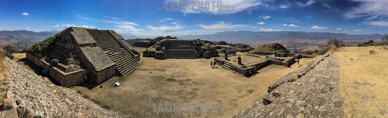 Mexico : Centro histórico de Oaxaca y zona arqueológica de Monte Albán / This Archeological Zone was inhabited by the Olmecs , Zapotecs and Mixtecs for fifteen centuries . The name in Castilian of Monte Albán was given by the Spaniards , in the conquest, by the similarity of the landscape with the Albanian mountains in Italy . It was one of the most important cities in Mesoamerica . Monte Albán was declared by UNESCO together with the Historical Center of the City of Oaxaca as a Cultural Heritage of Humanity on December 11, 1987 - Oaxaca / Mexico : Prähistorische Stadt Monte Albán - UNESCO Welterbe © Andrea Díaz-Perezache/LATINPHOTO.org