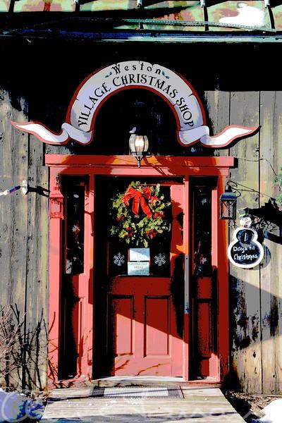Christmas Shop Weston Vermont Poster