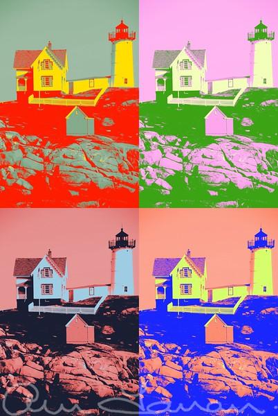 New England Lighthouse Pop Art