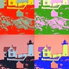 New England Lighthouse Pop Art