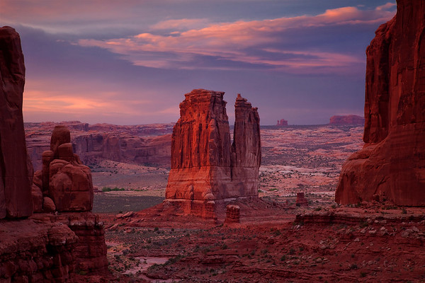 The Organ seen from Park Avenue, Arches National Park, Utah