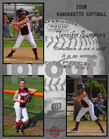 Softball 11x14 Template Summers