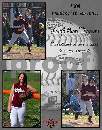 Softball 11x14 Template Tennant