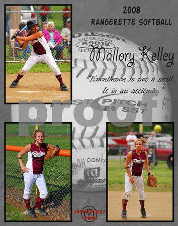 Softball 11x14 Template Kelley