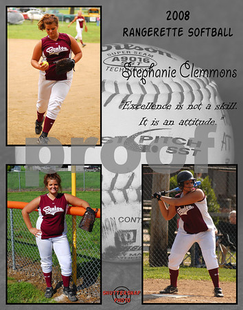 Softball 11x14 Template Clements
