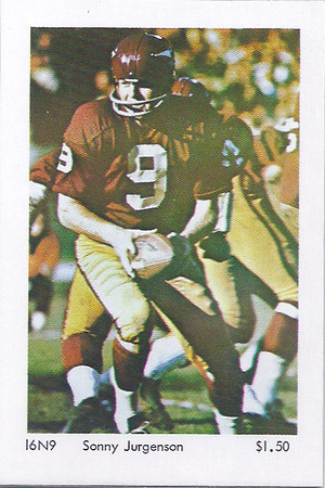 Sonny Jursensen 1960s Sports Illustrated Poster Salesman Sample