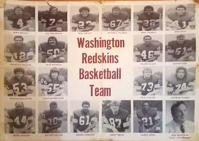 1970s Redskins Basketball Team Poster