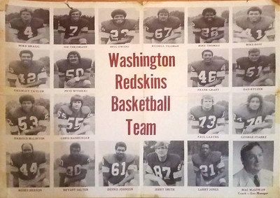 1970s Redskins Basketball Team Poster