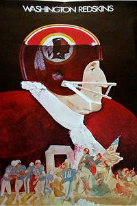 1974 NFL Redskins Poster