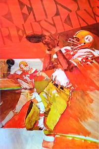 1971 NFL Redskins Poster