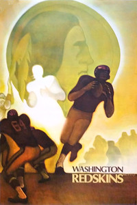 1967 NFL Redskins Poster