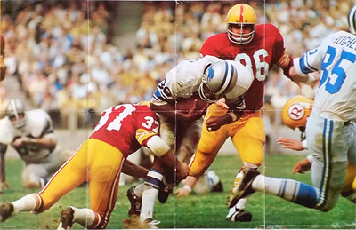 1972 Scholastic Magazine Redskins  Poster