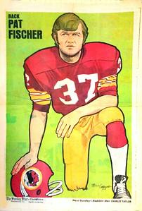 1972 Newspaper Redskins Pat Fischer
