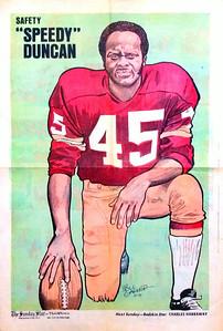 1972 Newspaper Redskins Speedy Duncan