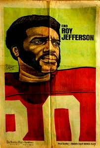 1972 Newspaper Redskins Roy Jefferson
