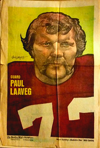 1972 Newspaper Redskins Paul Laaveg