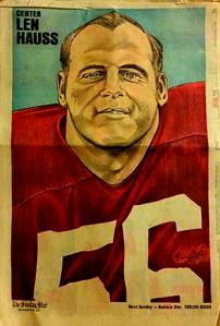 1972 Newspaper Redskins Len Hauss