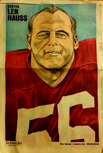 1972 Newspaper Redskins Len Hauss