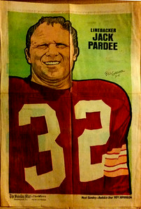 1972 Newspaper Redskins Jack Pardee