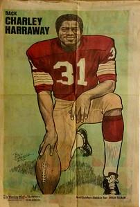 1972 Newspaper Redskins Charley Harraway