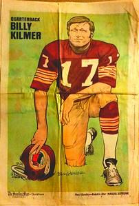 1972 Newspaper Redskins Billy Kilmer