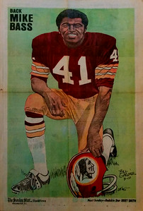 1972 Newspaper Redskins Mike Bass