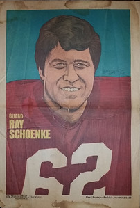 1972 Newspaper Redskins Ray Schoenke