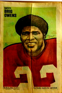 1972 Newspaper Redskins Brig Owens