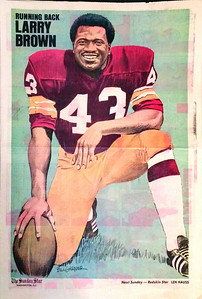 1972 Newspaper Redskins Larry Brown