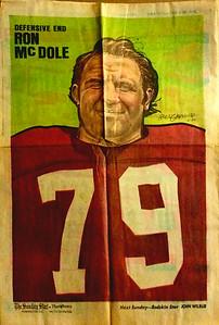 1972 Newspaper Redskins Ron McDole