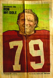1972 Newspaper Redskins Ron McDole