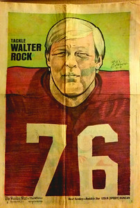 1972 Newspaper Redskins Walt Rock