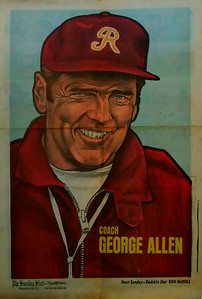 1972 Newspaper Redskins George Allen