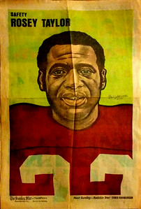 1972 Newspaper Redskins Rosey Taylor