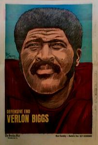 1972 Newspaper Redskins Verlon Biggs