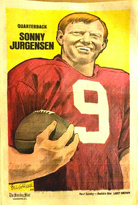 1972 Newspaper Redskins Sonny Jurgensen