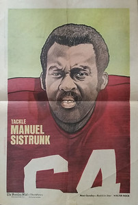 1972 Newspaper Redskins Manny Sistrunk