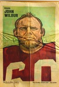 1972 Newspaper Redskins John Wilbur