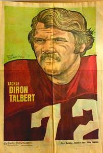 1972 Newspaper Redskins Diron Talbert