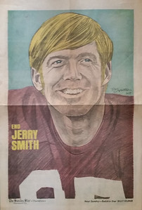 1972 Newspaper Redskins Jerry Smith