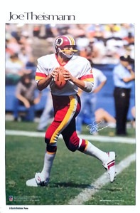 1982 Marketcom Sports Illustrated Joe Theismann Poster